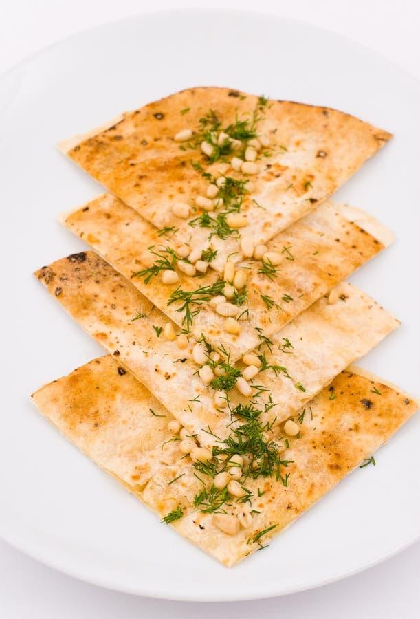 Lavash, pane del frumento immagini stock