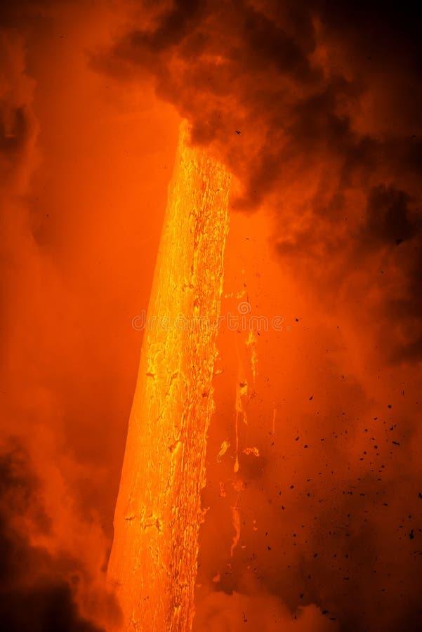 Lavastroom in Hawaï royalty-vrije stock foto's