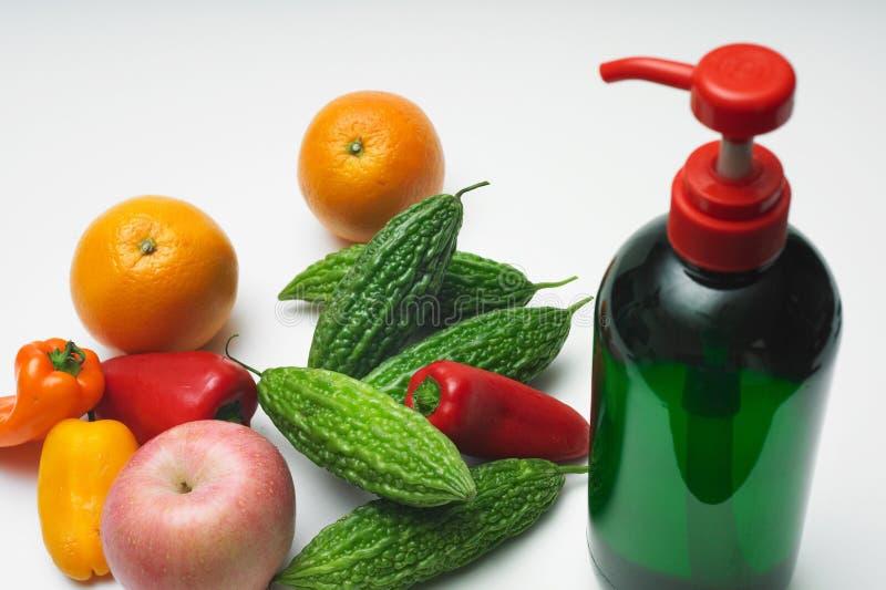 Lavata di verdure organica fotografia stock