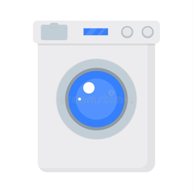Lavatrice isolata sul blu royalty illustrazione gratis
