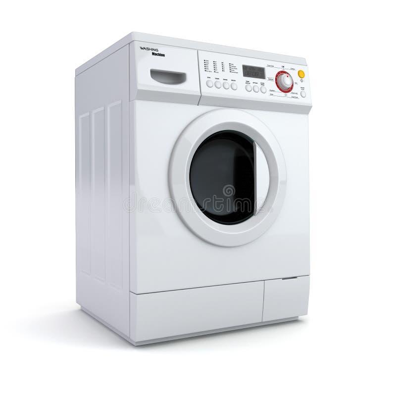 Lavatrice su fondo isolato bianco. illustrazione di stock