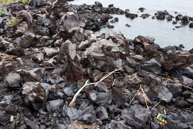 Lave de Mt Sakurajim photo stock