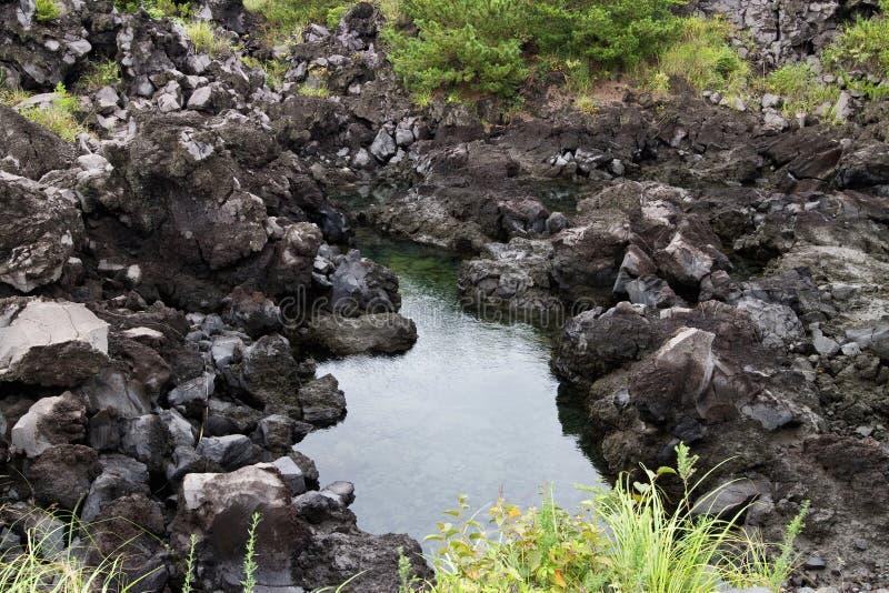 Lave de Mt Sakurajim images stock