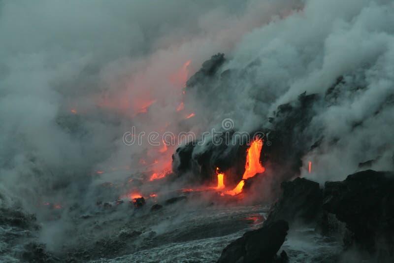 Download Lave flow 4 stock photo. Image of hawaii, flow, orange - 270414