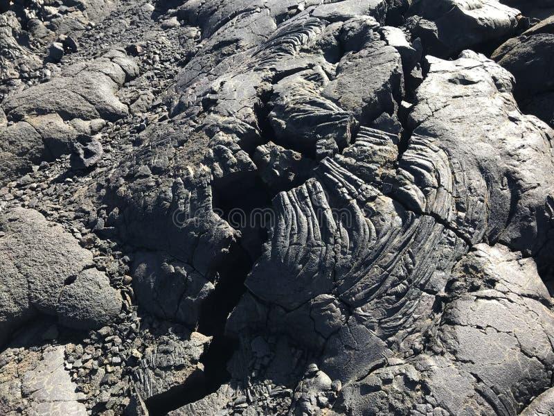 Lave sèche en parc national de volcans photos libres de droits