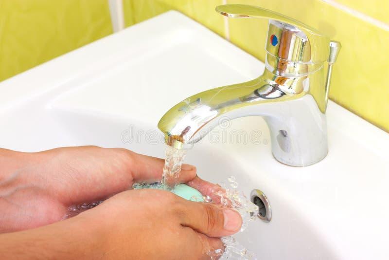 Lave suas mãos imagens de stock