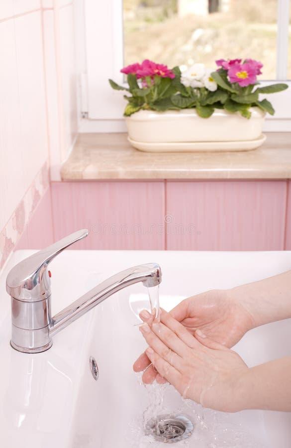 Lave suas mãos fotos de stock