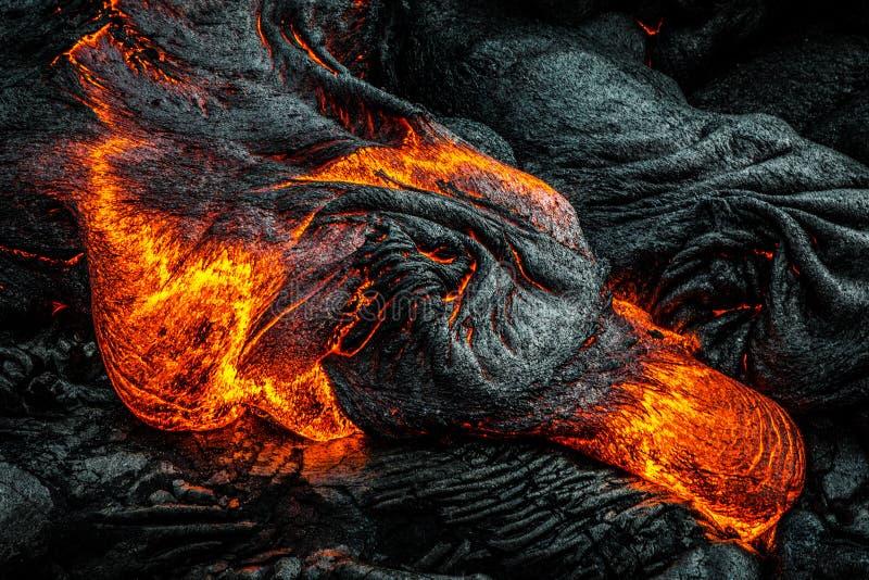 Lave sur île du ` s d'Hawaï la grande photos libres de droits