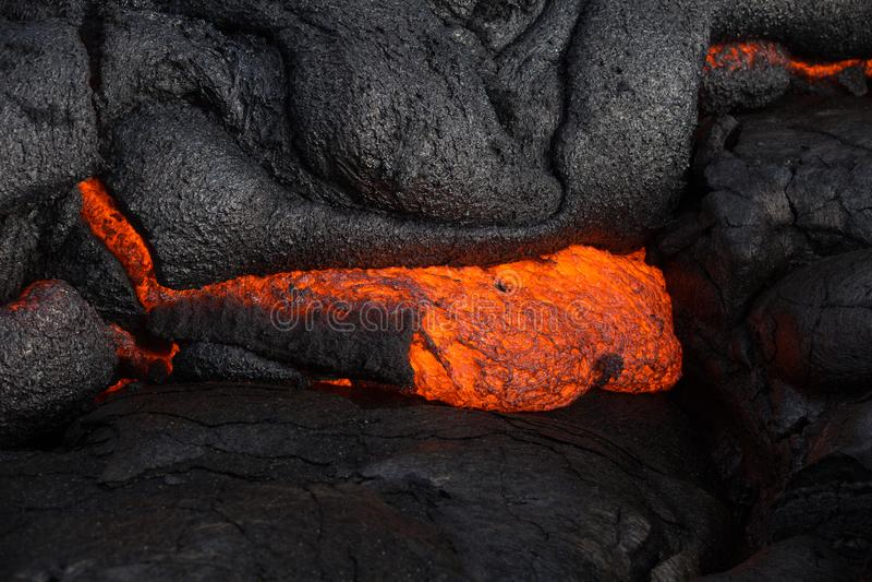 Lave sur île du ` s d'Hawaï la grande photos stock