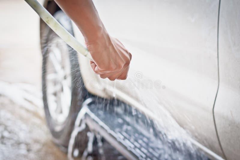 Lave um carro fotos de stock