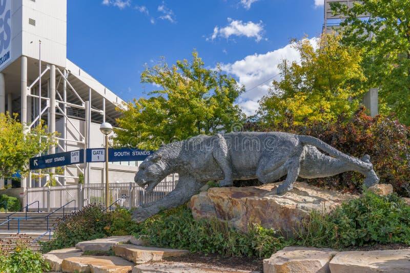 LaVell Edwards Stadium auf dem Campus von Brigham Young University lizenzfreies stockbild