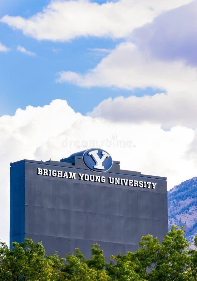 LaVell Edwards Stadium på universitetsområde av Brigham Young University royaltyfria foton