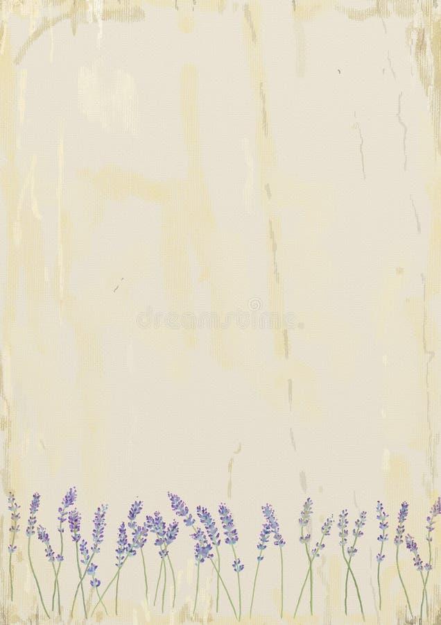 Lavendel stock illustrationer