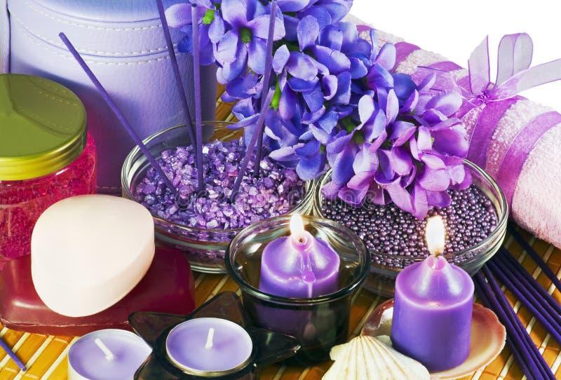 Lavendel-Badekurort stockfoto