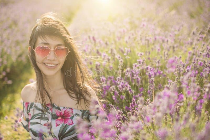 Lavendel bloeiende bloemen stock foto's