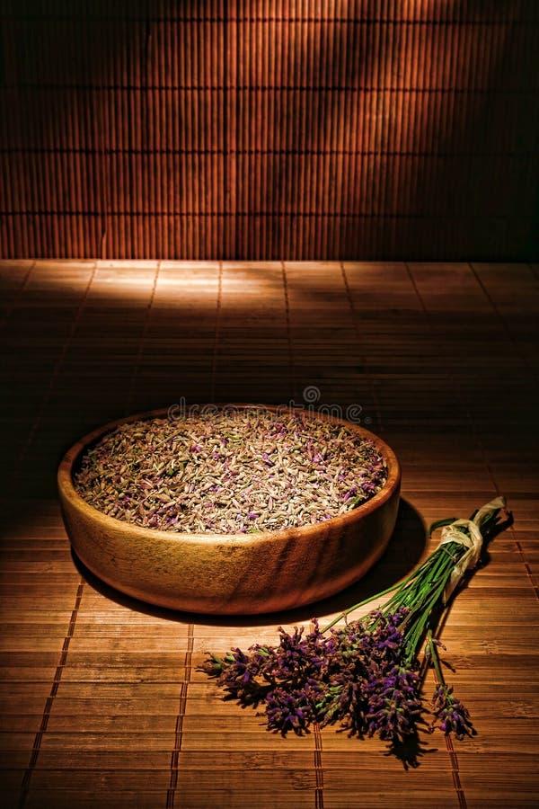 Lavendel-Blumen und Startwerte für Zufallsgenerator stockfotos