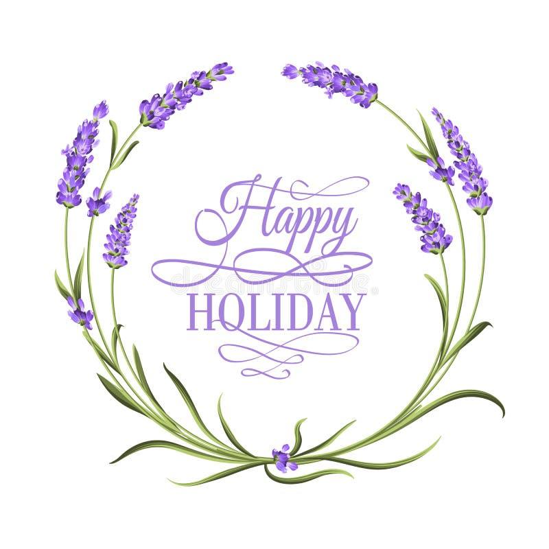 Lavendel elegante kaart stock illustratie