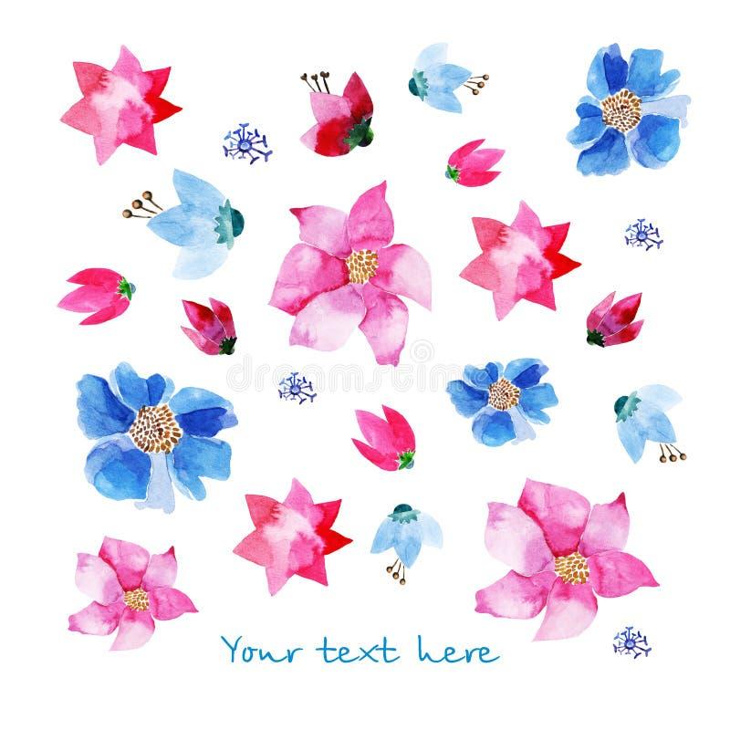 Download Lavendel En Blauwe Ornamenten Vector Illustratie - Illustratie bestaande uit art, summer: 54090284
