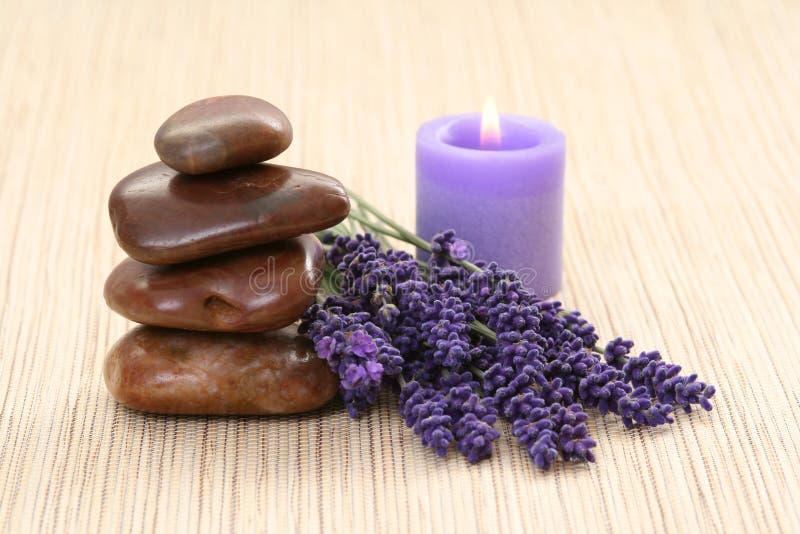 Lavendelbadekurort stockbilder