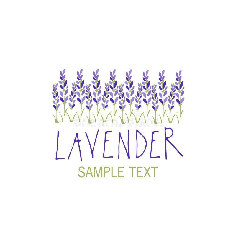 Lavendelblume Sonnenkollektor und Zeichen für alternative Energie Texthand gezeichnet vektor abbildung
