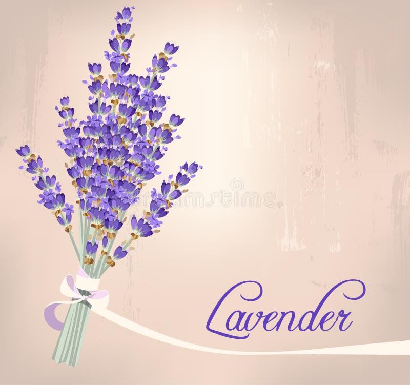 Lavendelbukett stock illustrationer