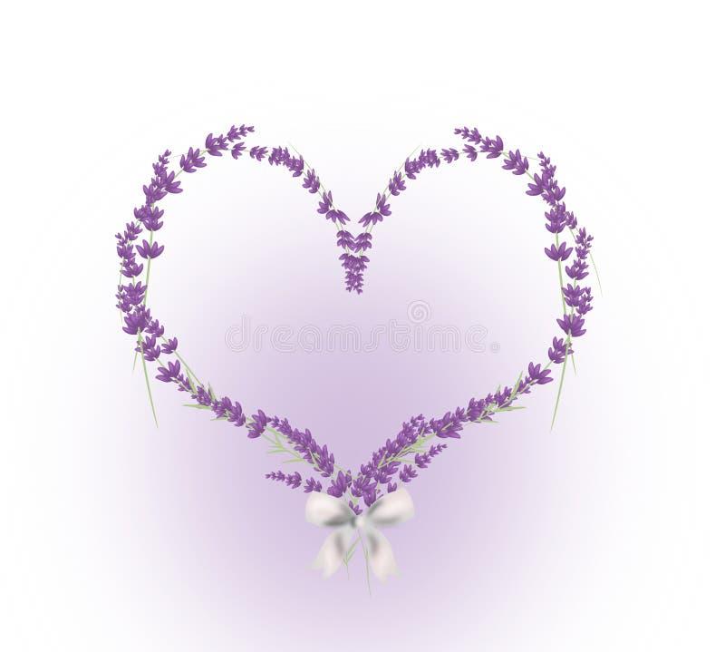 Lavendelhjärta royaltyfri illustrationer