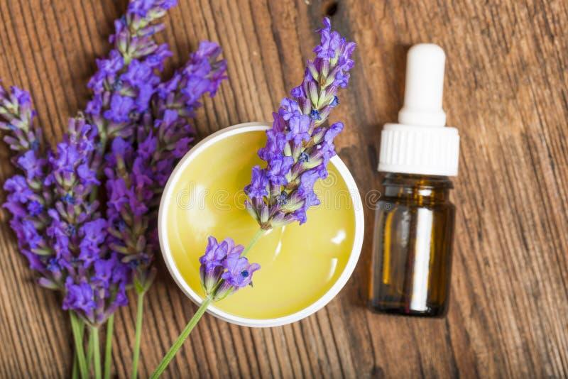 Lavendelkräuterauszug stockfoto