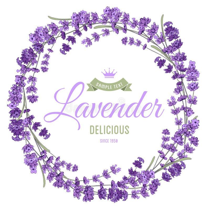 Lavendelkranz lizenzfreie abbildung