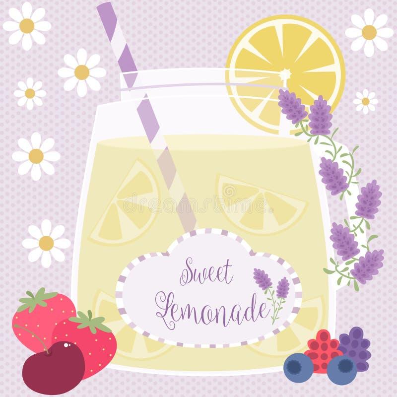 Lavendellimonade royalty-vrije illustratie