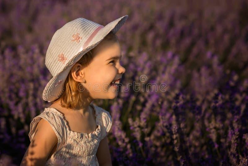 Lavendelmeisje royalty-vrije stock fotografie
