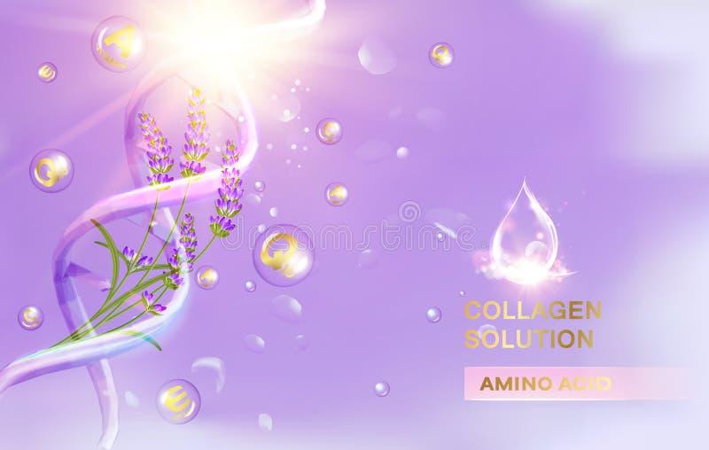 Lavendelroom en olie royalty-vrije illustratie