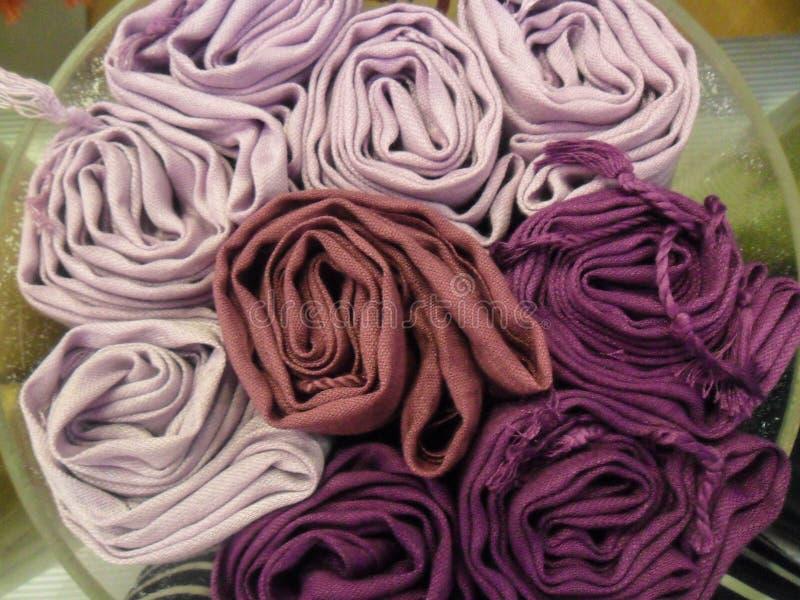 LavendelskuggaScarves royaltyfri fotografi