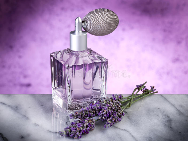 Lavendelwesentliches stockfoto