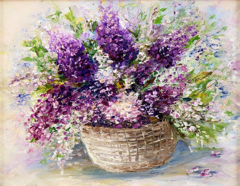 Lavender ανθοδέσμη διανυσματική απεικόνιση