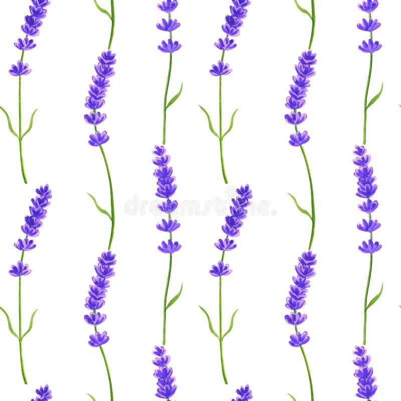 Lavender λουλούδια r E Σύσταση για την τυπωμένη ύλη, ύφασμα, κλωστοϋφαντουργικό προϊόν, ταπετσαρία ελεύθερη απεικόνιση δικαιώματος