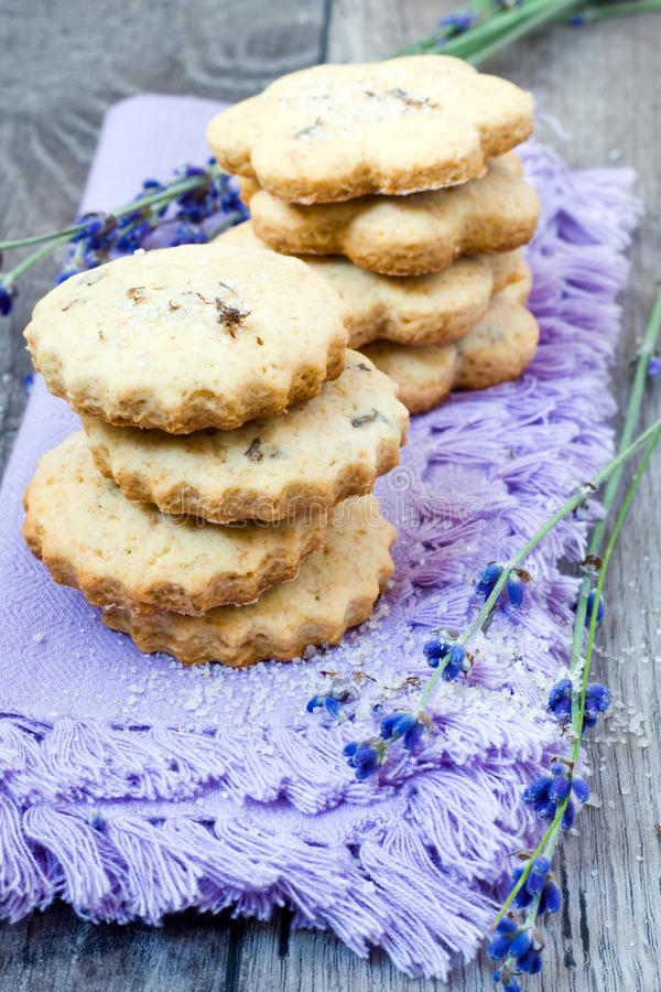 Lavender μπισκότα στοκ φωτογραφία με δικαίωμα ελεύθερης χρήσης