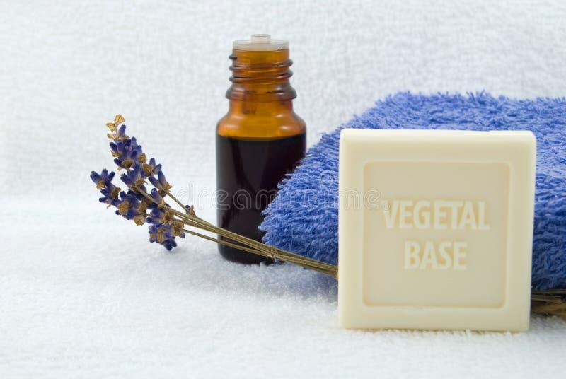 lavender σαπούνι πετρελαίου στοκ φωτογραφίες