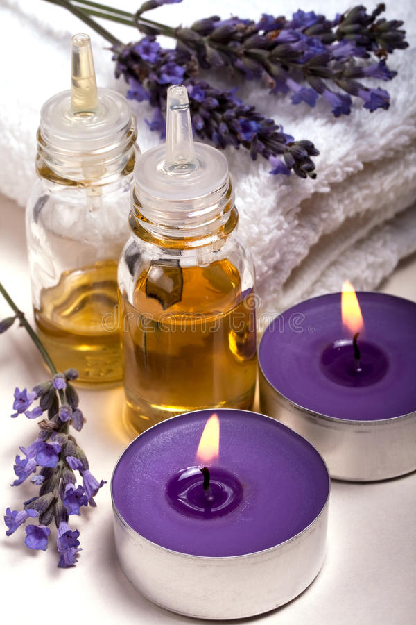 Lavender aromatherapy royalty free stock images