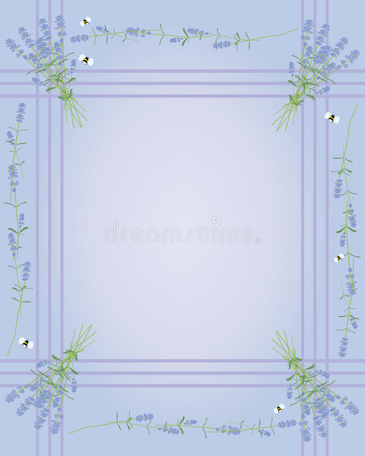 Download Lavender border stock vector. Image of flowers, gift - 20018527