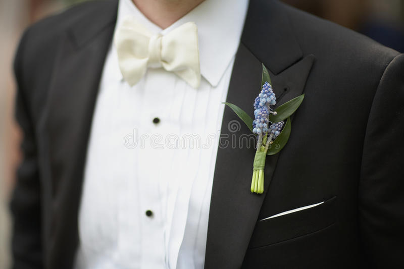 Download Lavender boutonniere stock image. Image of suit, bride - 17661439