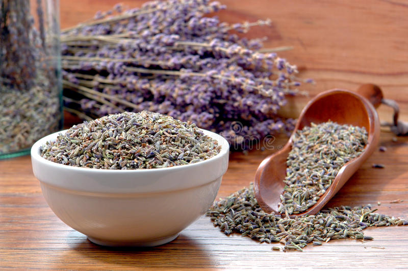 Lavender Flower Dry Seeds in an Aromatherapy Shop