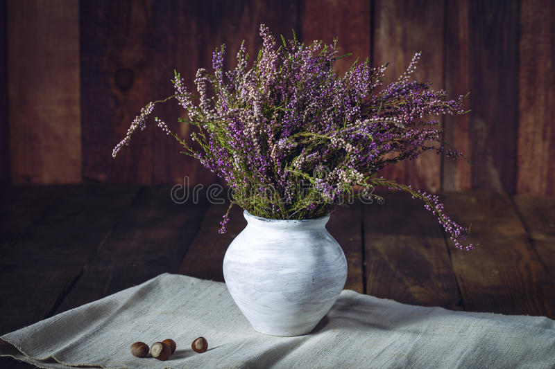 Download Lavender Flower On A Wooden Background Stock Image - Image: 83700851
