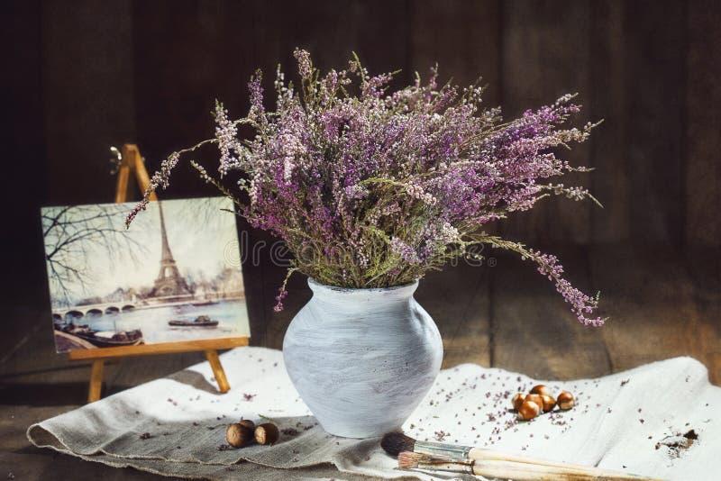 Download Lavender Flower On A Wooden Background Stock Image - Image: 83701447