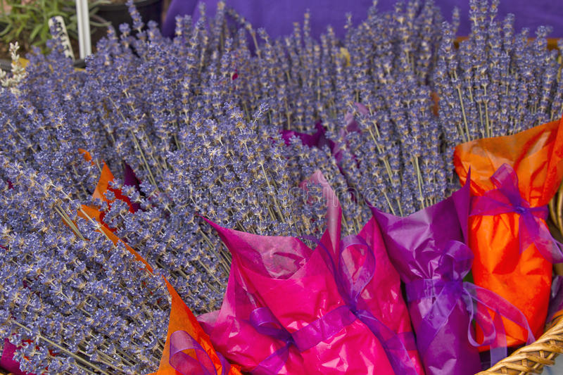 Lavender Flowers Bouquet Royalty Free Stock Photography
