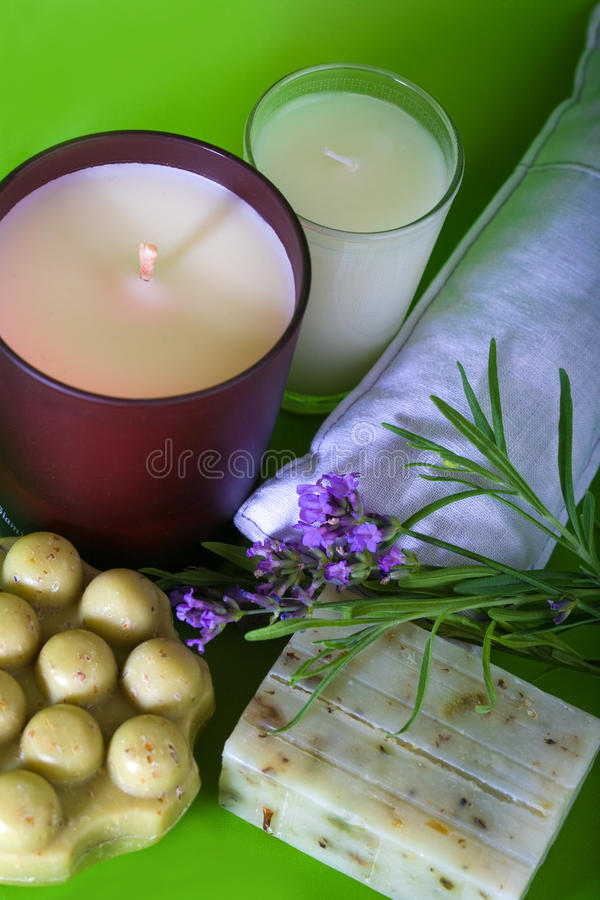 Download Lavender and handmade soap stock image. Image of relaxation - 12217457