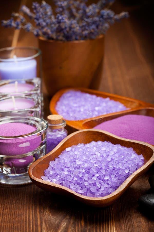 Lavender Minerals Stock Image