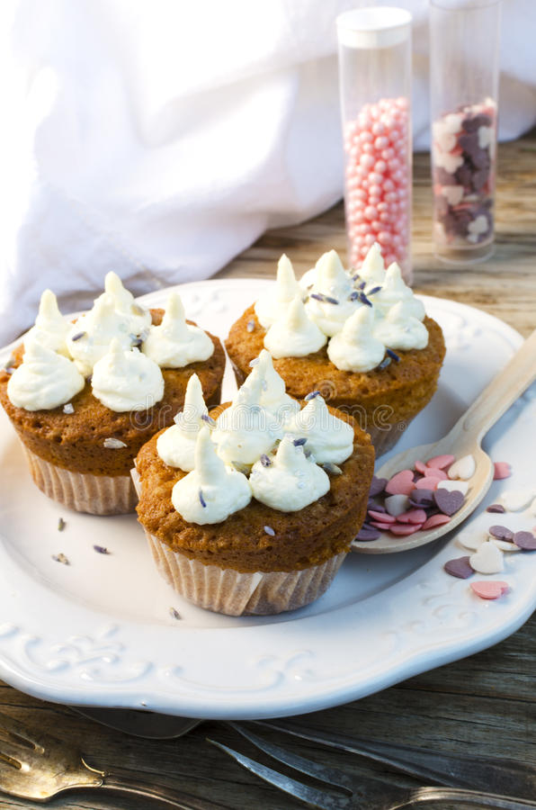 Download Lavender Muffins stock image. Image of cheese, saint - 28753075