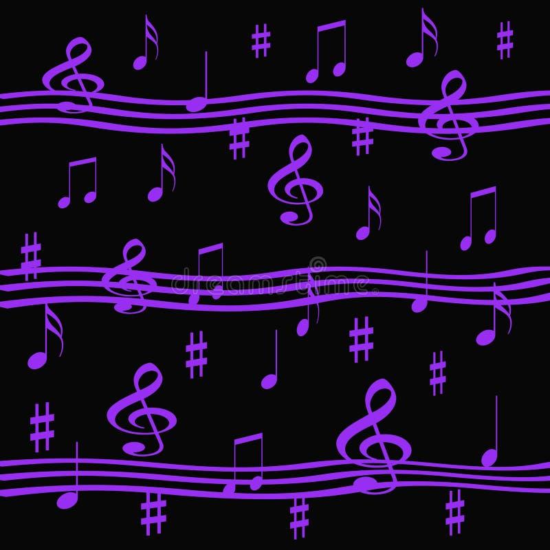 Lavender music vector illustration