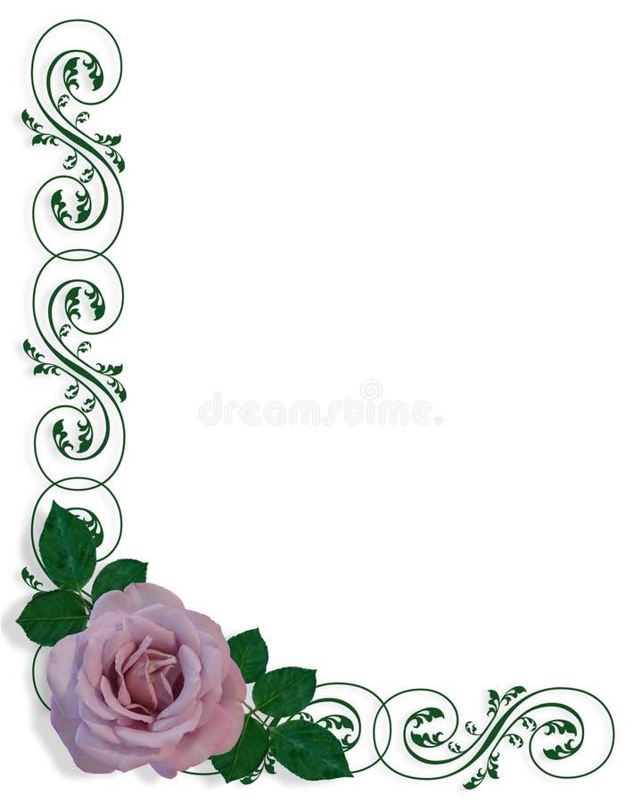 Lavender Rose Corner Design Stock Images