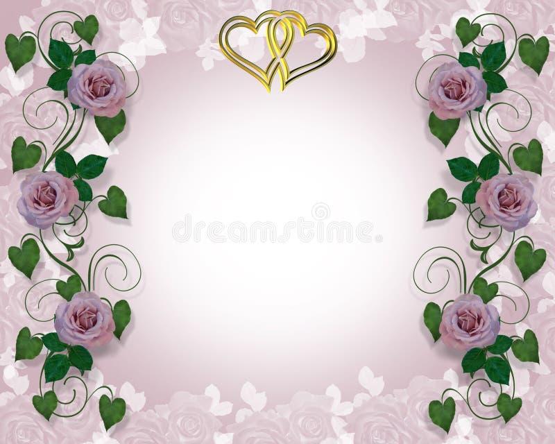 Download Lavender Rose Wedding Invitation Stock Illustration - Image: 4604001
